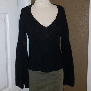 FP Bell sleeve v neck sweater